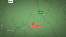 Map shows Tunstall Road.
