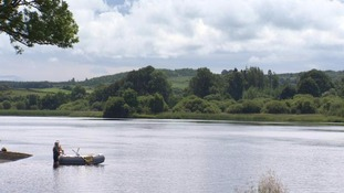 Loch Ken near Castle Douglas is a popular holiday destination