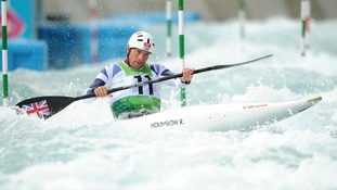 Richard Hounslow during the Kayak Single Slalom Heats at Lee Valley White Water Centre on the second day of Olympics.