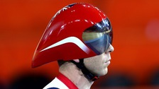 Sir Chris Hoy during Great Britain&#x27;s training session at the Velodrome