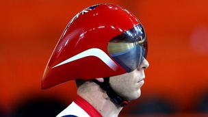 Sir Chris Hoy during Great Britain's training session at the Velodrome