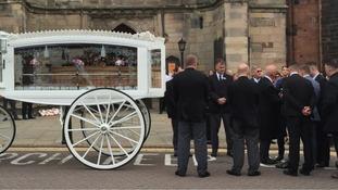 Coffin of Sue Davey