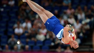 Kristian Thomas, mid-air, at last night's event