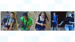 CCTV image of tram attack suspects