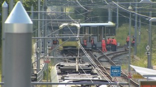 Tram derailment at St Werburgh's station