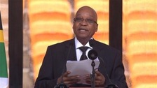 South African President Jacob Zuma admitted to hospital.