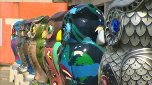 165cm tall owl sculptures will be perching across Birmingham for ten weeks during the summer.