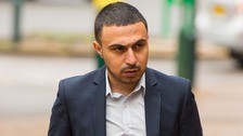 Actor Adam Deacon arriving at Hammersmith Magistrate's Court on Monday.