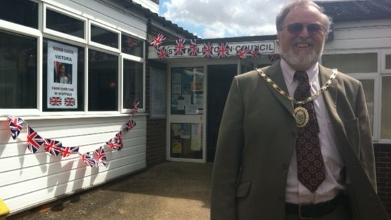 Mayor of Stotfold Brian Collier