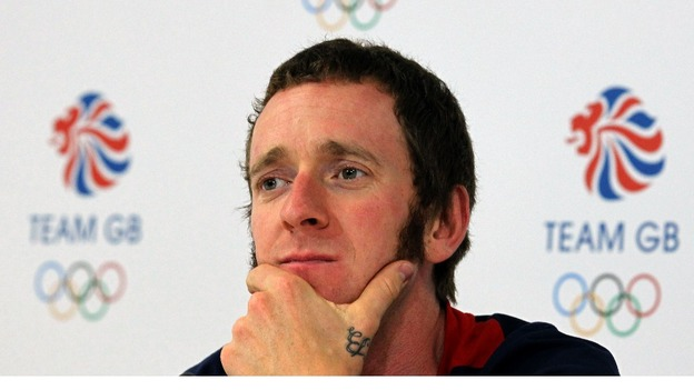 Bradley Wiggins at a press conference yesterday.