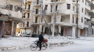 The Syrian city of Aleppo where the reporters are thought to have been captured.