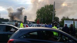 Glastonbury scrapyard fire