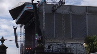 Plymouth Hoe stage is ready to welcome girl band Little Mix.