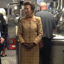 Princess Anne visiting the Lakes Distillery near Bassenthwaite