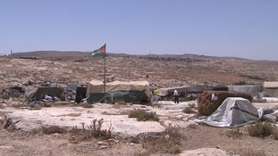 Susiya is home to around 350 people living in tents and lean-tos.