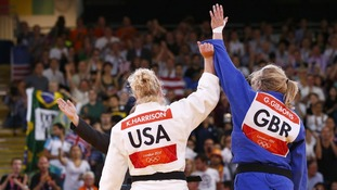 Gibbons was was beaten by Kayla Harrison in the women's under 78kgs Judo final