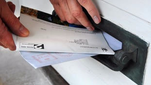 letters delivered through letterbox
