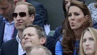 The Duke and Duchess of Cambridge then settled in to watch the match