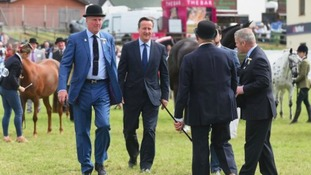 Cameron's drops strongest hint yet over Welsh income tax during Royal Welsh visit