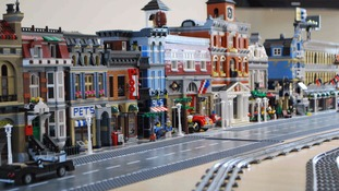Lego village built by Teesside man, Mark Willis, as part of Autism therapy