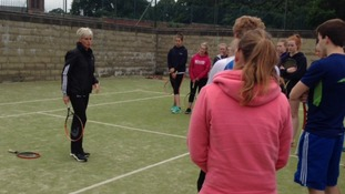 Judy Murray teaches the next generation.