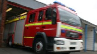 Five fire engines are currently tackling a fire at a church on Julian Road.