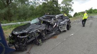 The crash happened near the village of Fossebridge.