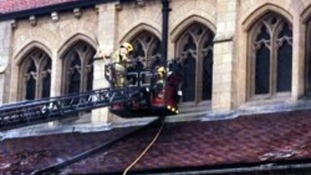 The service received multiple calls reporting the fire.