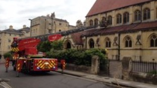 Eight fire engines including a turntable ladder attended the scene.