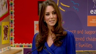 The Duchess of Cambridge gives her first public speech