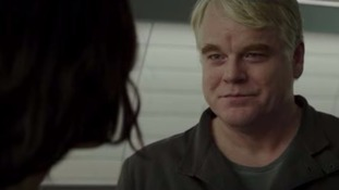 Philip Seymour Hoffman in The Hunger Games: Mockingjay Part 2.