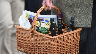 basket with alcohol