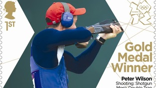 Peter Wilson's shooting gold performance will appear on a Royal Mail stamp.