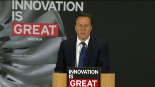 David Cameron speaking at a press conference today