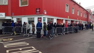 Ticket queues at Ashton Gate