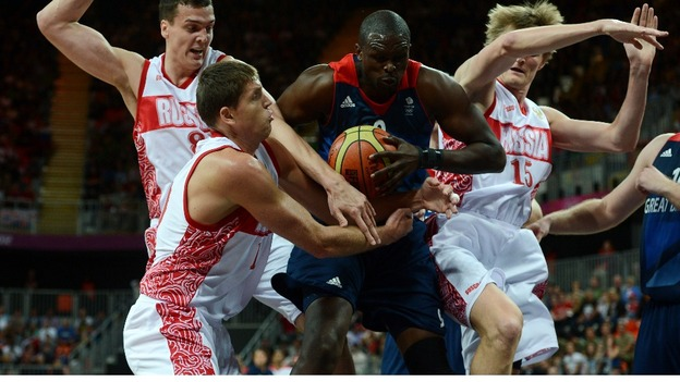 Britain's men's basketball team lost against Russia in a group B preliminary round last Sunday