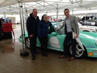 The new ITV Anglia rally team...