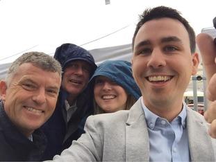 Smiling through the rain