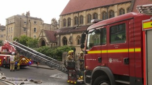Fire crews at Bath church