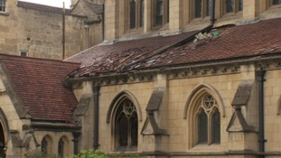 Damage to Bath church