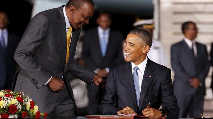 Uhuru Kenyatta and obama
