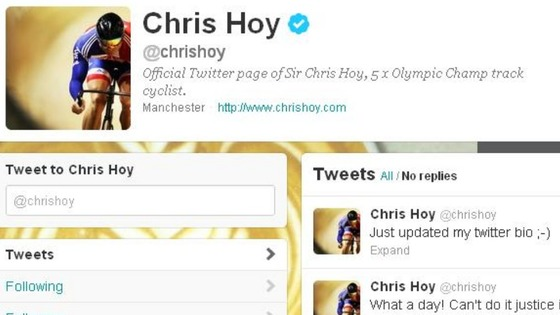 Sir Chris Hoy's bio change
