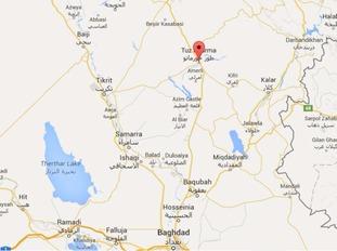Tuz Khurmatu in northern Iraq