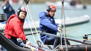 Sir Ben Ainslie starts bid to win oldest trophy in sport