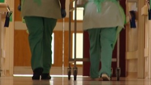 Hosptial staff walking