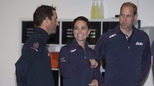 The Duchess of Cambridge and the Prince of Wales paid a visit on the second day of the opening leg