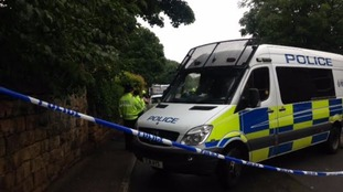 South Yorkshire police at the scene