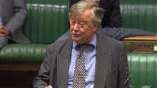 "Ken Clarke told the court he ""never had the compulsion"" to grope a man."