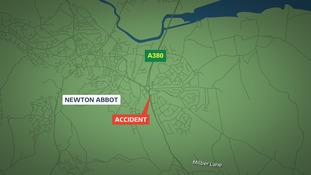 Newton abbot crash map