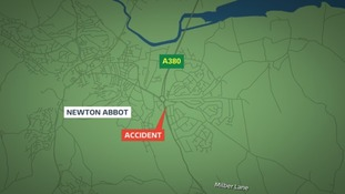 A 30-year-old man died after being hit on the A380 in Newton Abbot